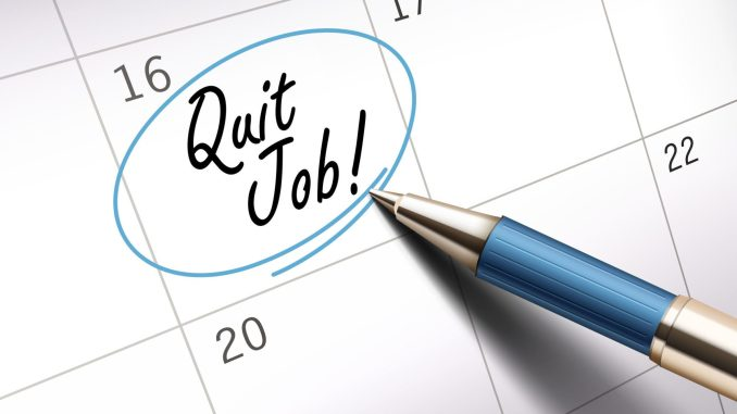62546794 - quit job words circle marked on a calendar by a blue ballpoint pen